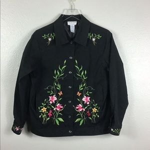 Victor Costa Embroidered Jacket Sz M